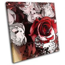 Rose Love Flowers Floral - 13-0808(00B)-SG11-LO